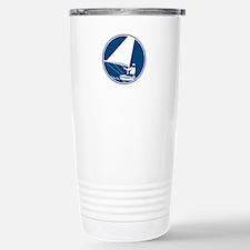 Sailing Yachting Circle Icon Travel Mug