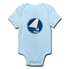 Sailing Yachting Circle Icon Body Suit