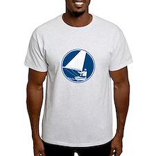 Sailing Yachting Circle Icon T-Shirt