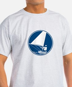 Sailing Yachting Circle Icon T-Shirt