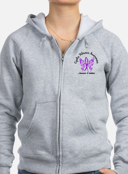 Cystic Fibrosis Butterfly 6.1 Zip Hoody