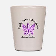 Cystic Fibrosis Butterfly 6.1 Shot Glass
