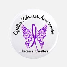 Cystic Fibrosis Butterfly 6.1 Button
