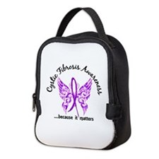 Cystic Fibrosis Butterfly 6.1 Neoprene Lunch Bag