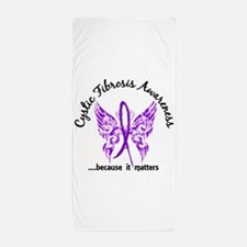 Cystic Fibrosis Butterfly 6.1 Beach Towel