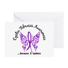 Cystic Fibrosis Butterfly 6.1 Greeting Card