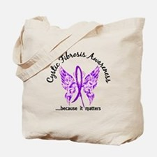Cystic Fibrosis Butterfly 6.1 Tote Bag