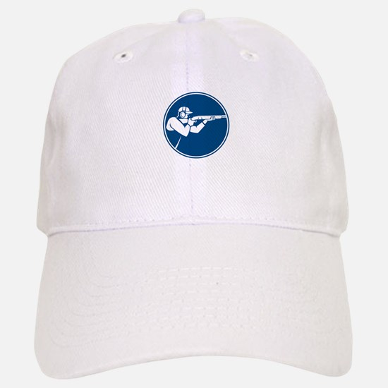 Trap Shooting Shotgun Circle Icon Baseball Baseball Baseball Cap