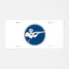 Trap Shooting Shotgun Circle Icon Aluminum License