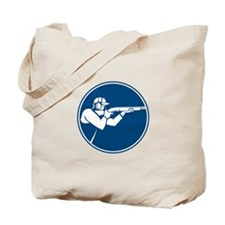 Trap Shooting Shotgun Circle Icon Tote Bag