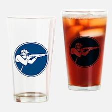 Trap Shooting Shotgun Circle Icon Drinking Glass
