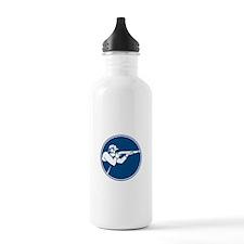 Trap Shooting Shotgun Circle Icon Water Bottle
