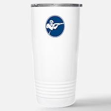 Trap Shooting Shotgun Circle Icon Travel Mug