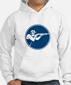 Trap Shooting Shotgun Circle Icon Hoodie