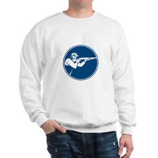 Trap Shooting Shotgun Circle Icon Sweatshirt