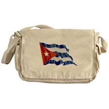 Cuba Flag (Distressed) Messenger Bag