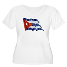 Cuba Flag (Distressed) Plus Size T-Shirt