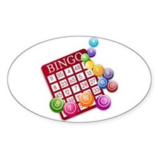 Las Vegas Bingo Card and Bingo Balls Decal