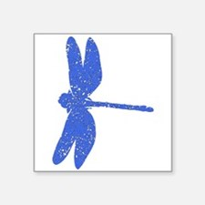 Distressed Blue Dragonfly Sticker