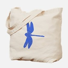 Distressed Blue Dragonfly Tote Bag