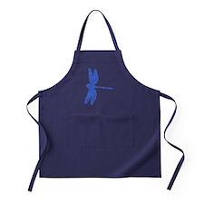 Distressed Blue Dragonfly Apron (dark)
