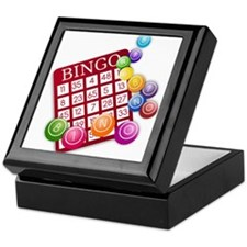 Las Vegas Bingo Card and Bingo Balls Keepsake Box