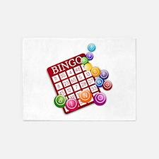 Las Vegas Bingo Card and Bingo Ball 5'x7'Area Rug