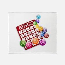 Las Vegas Bingo Card and Bingo Balls Throw Blanket