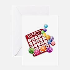 Las Vegas Bingo Card and Bingo Ball Greeting Cards