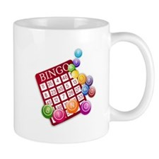 Las Vegas Bingo Card and Bingo Balls Mugs
