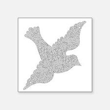 Distressed Grey Dove Sticker