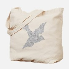 Distressed Grey Dove Tote Bag