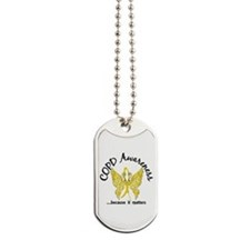COPD Butterfly 6.1 (Gold) Dog Tags