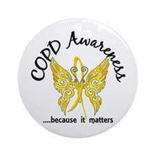 COPD Butterfly 6.1 (Gold) Ornament (Round)