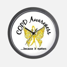 COPD Butterfly 6.1 (Gold) Wall Clock