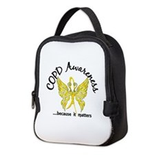 COPD Butterfly 6.1 (Gold) Neoprene Lunch Bag