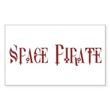 Space Pirate Rectangle Decal