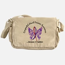 Congenital Heart Disease Butterfly 6 Messenger Bag