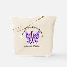 Congenital Heart Disease Butterfly 6.1 Tote Bag