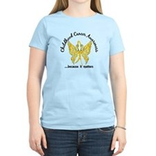 Childhood Cancer Butterfly 6 T-Shirt