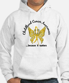 Childhood Cancer Butterfly 6.1 Hoodie