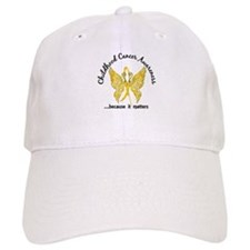 Childhood Cancer Butterfly 6.1 Baseball Cap