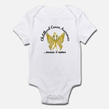 Childhood Cancer Butterfly 6.1 Infant Bodysuit