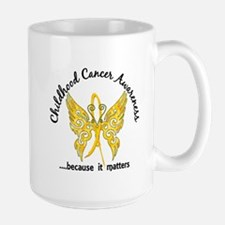 Childhood Cancer Butterfly 6.1 Large Mug