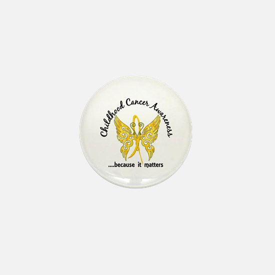 Childhood Cancer Butterfly 6.1 Mini Button