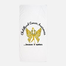 Childhood Cancer Butterfly 6.1 Beach Towel