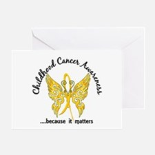 Childhood Cancer Butterfly 6.1 Greeting Card