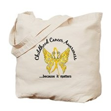 Childhood Cancer Butterfly 6.1 Tote Bag