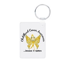 Childhood Cancer Butterfly Aluminum Photo Keychain