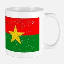 Burkina Faso Flag (Distressed) Mugs